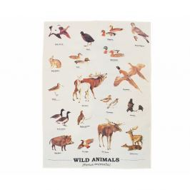 Ścierka Gift Republic Wild Animals Multi, 50x70 cm