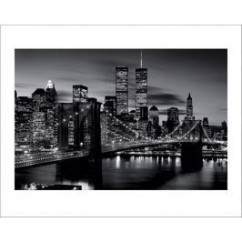 Brooklyn Bridge B&W - plakat premium