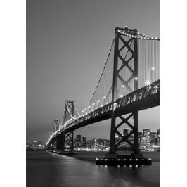 Brooklyn Bridge nocą - fototapeta