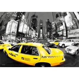 Rush Hour Times Square - Taxi Nowy Jork - plakat 3D
