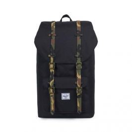 Herschel plecak Little America Backpack black / woodland camo 10014-01869